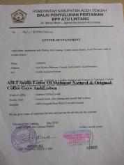 letter statmet